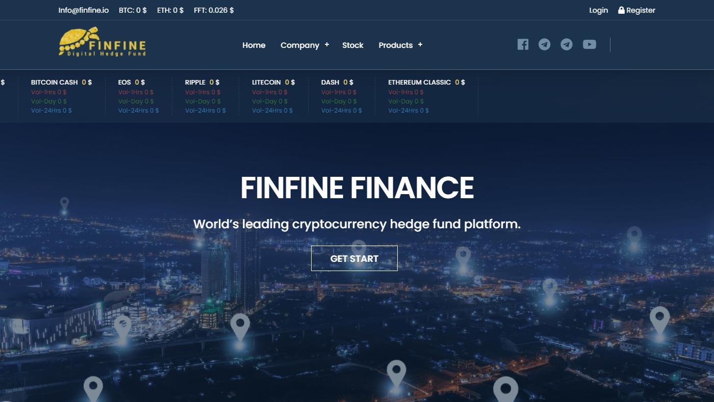 Finfine Homepage Image