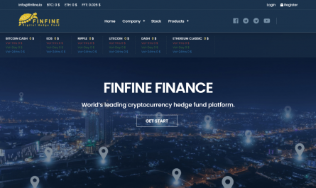 Finfine Homepage Image