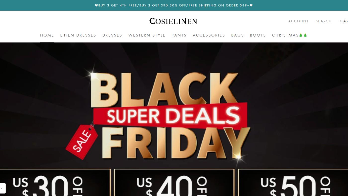 Cosielinen.com Homepage Image