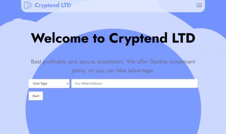 Cryptend.ltd Homepage Image