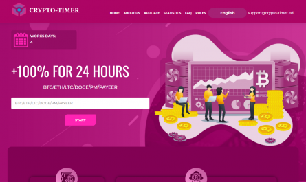 Crypto-timer.ltd Homepage Image