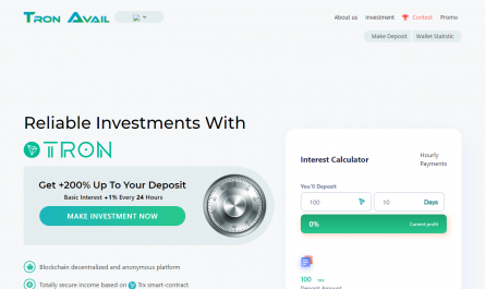 Tronavail.com Homepage Image