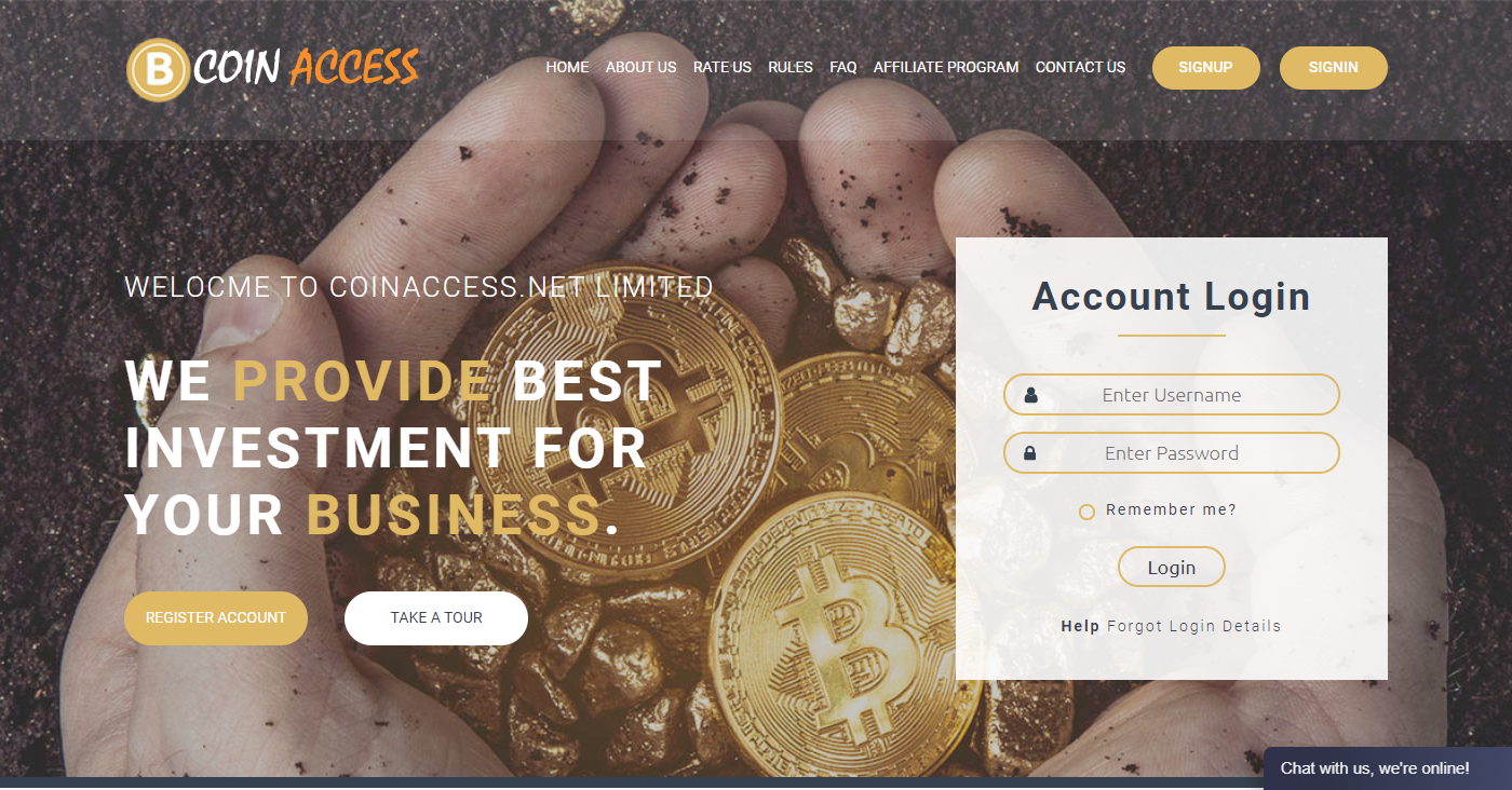 Coinacces.net Homepage Image