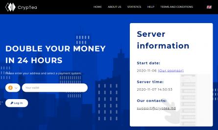 Cryptea.ltd Homepage Image