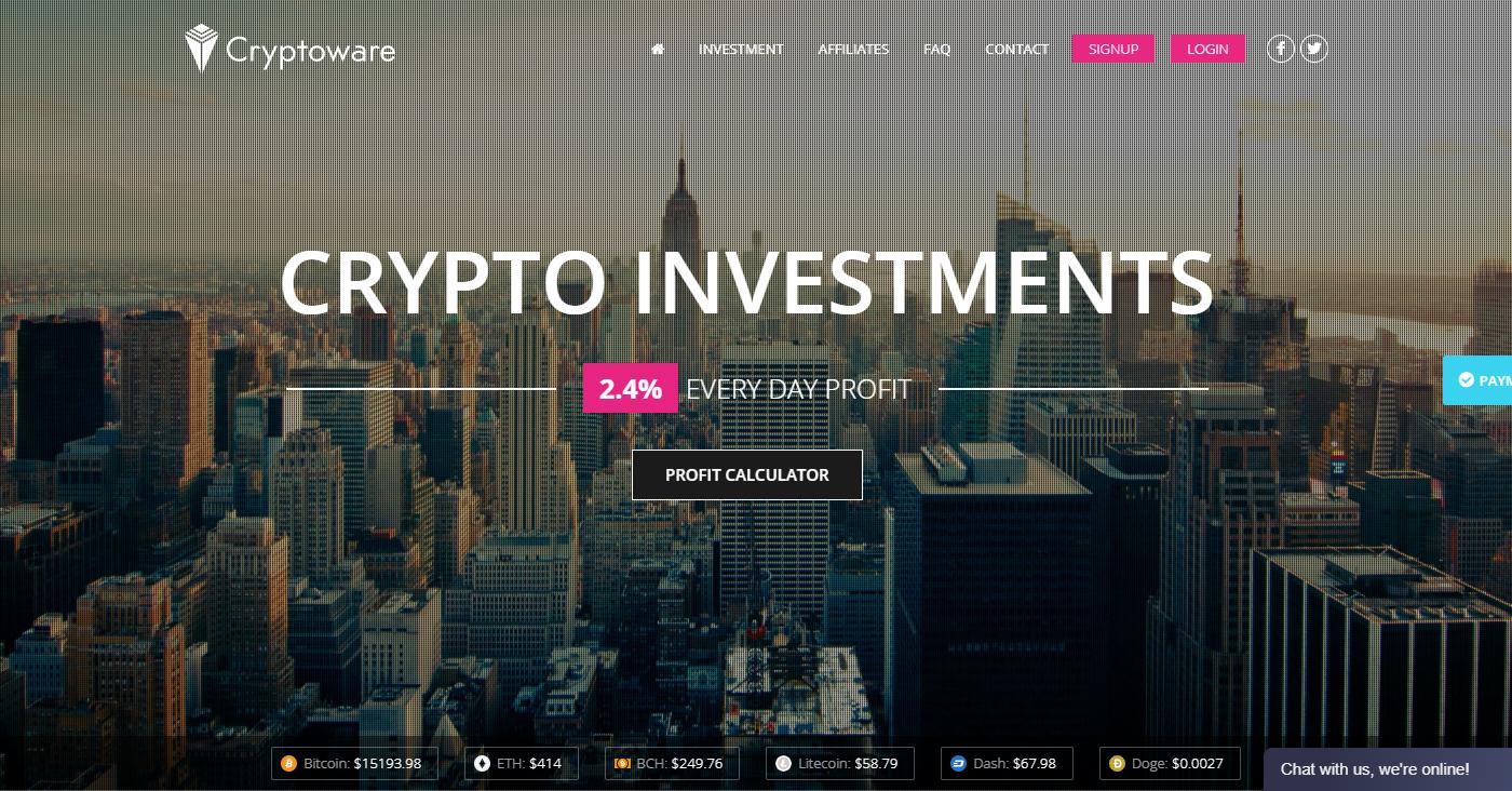 Cryptoware.biz Homepage Image