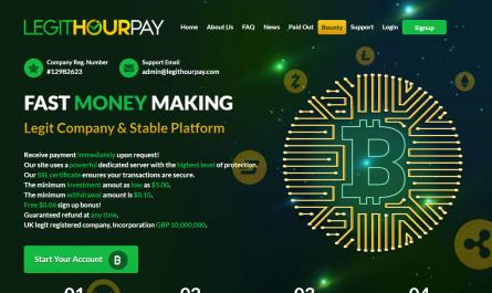 Legithourpay.com Homepage Image