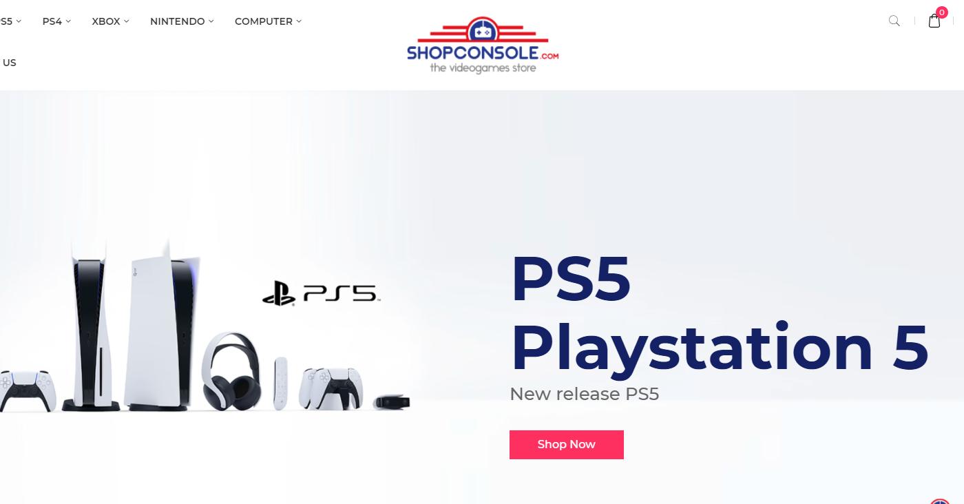 Shopconsole.com Homepage Image