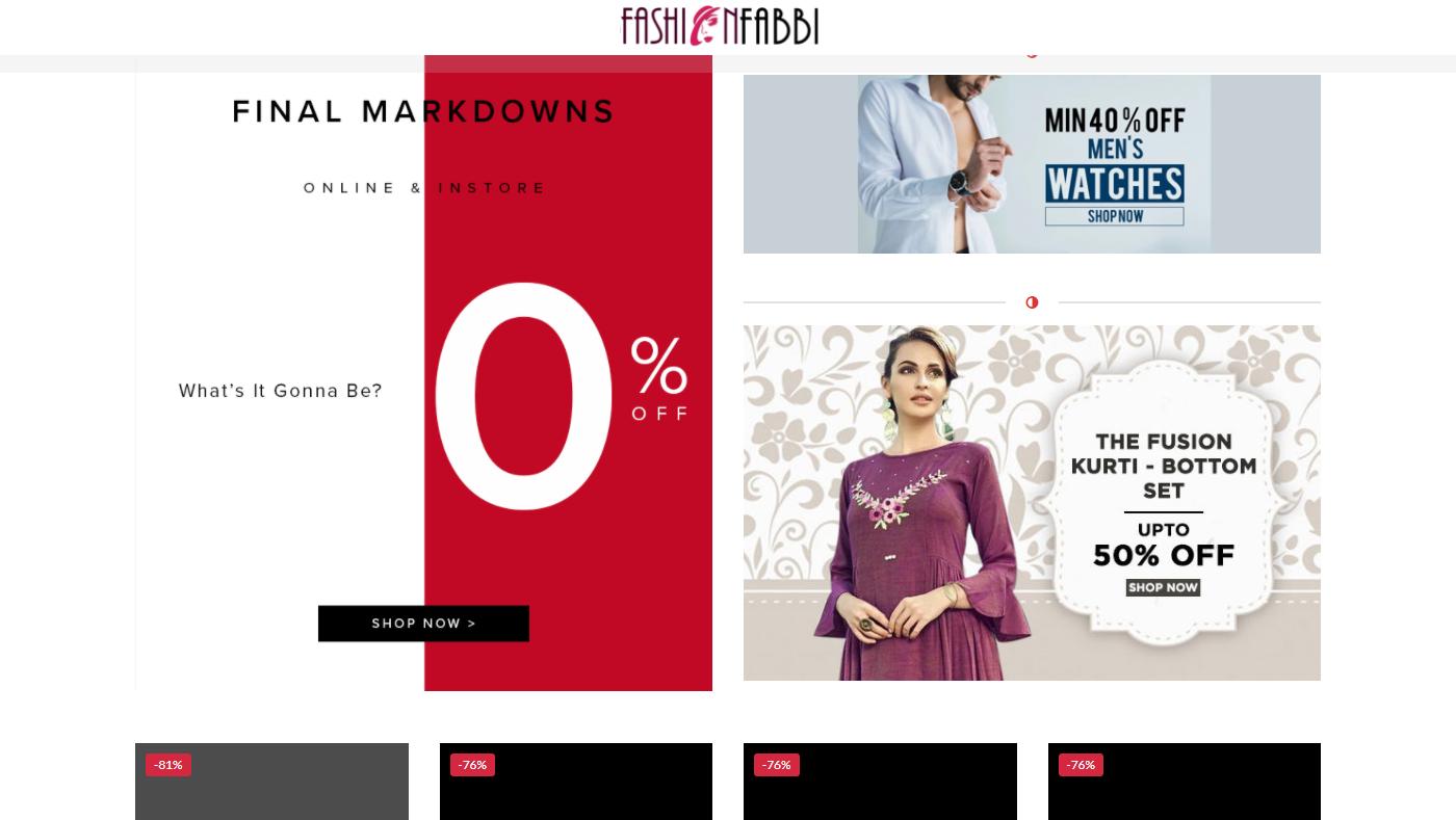 Fashionfabbi.com Homepage Image
