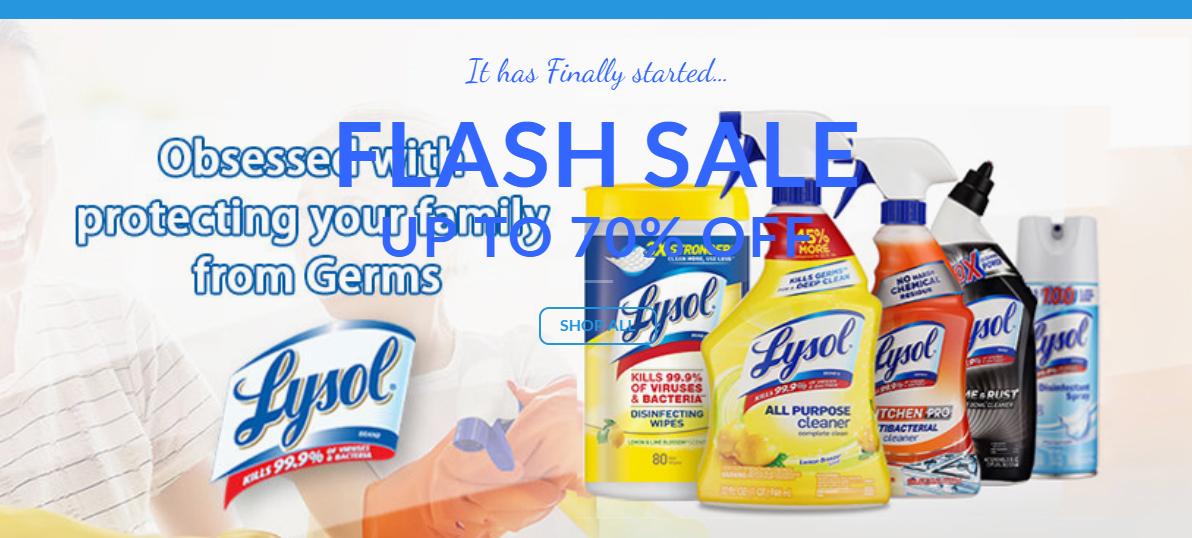 Lysolzmart.com Homepage Image