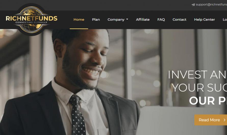 Richnetfunds.com Reviews: Is Richnet Funds a Scam or Legit Investment Platform?