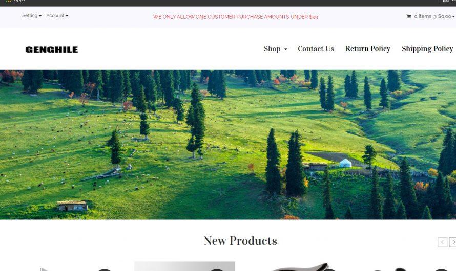 Genghile Review: Genghile.com Legit or Scam Online Store?
